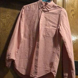 Pink long sleeved button down